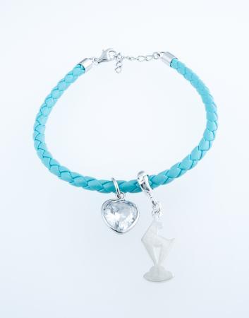 Bracelet with zirconia heart