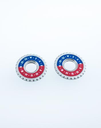 Cufflink disks bicoloured